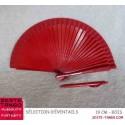 Éventail basique, 18,5 cm ou 19 cm - rouge, bois