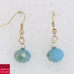 B.O Pampille perle facette - Bleu/Vert