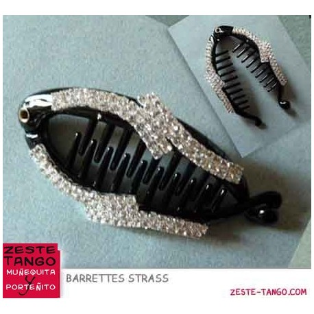 Barrette Croco Arabesque strass