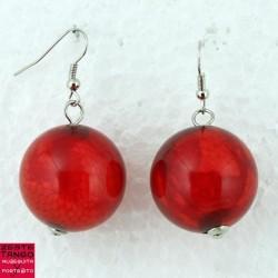 BO rouge tango, Grosse perle réticulée