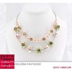 Collier câble fleurs et rocailles (1)