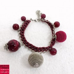 """Bracelet """"Fais danser le rouge"""""""