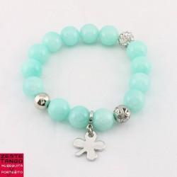 Perles déco & pampille, strass, verre - 01 - Vert