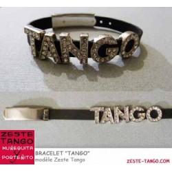 """Bracelet """"Tango"""" silicone noir"""