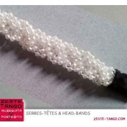 Serre-tête tresse de mini-perles