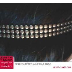 Head-band effet métal - Têtes de clou 3 rangs