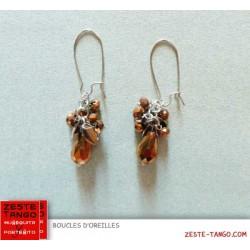 B.O Bouquet Pampilles cuivre facettées
