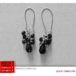 B.O Bouquet Pampilles noires facettées