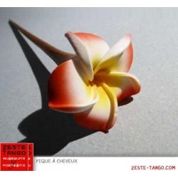 Pique à cheveux - fleur frangipanier