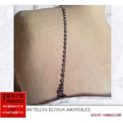Bretelle bijou strass 1 rang - noir