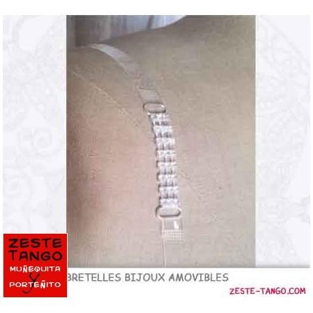 Bretelle bijou décor strass 3 rangs