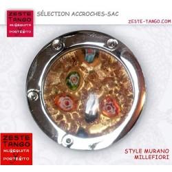 Accroche-sac pliable rond - millefiori Or