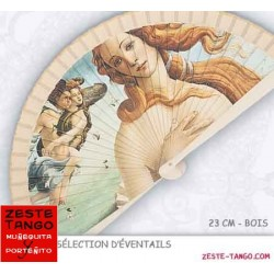 Eventail Art: Boticelli, Naissance de Vénus