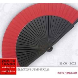 Éventail bicolore Rouge & Noir