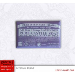 Savon bio all-one Dr Bronner, LAVANDE