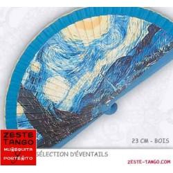 Eventail Art: Van Gogh, nuit étoilée