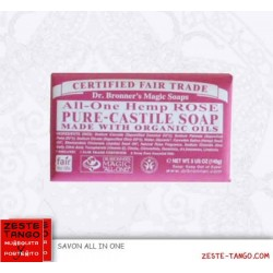 Savon bio all-one Dr Bronner. Rose