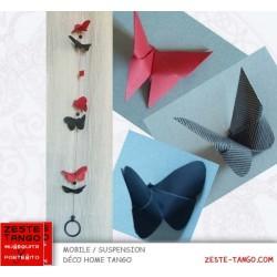 Suspension tanda des papillons et détail des 3 formes disponibles
