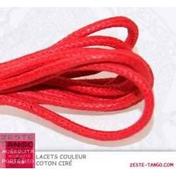 Lacet couleur Rouge tango