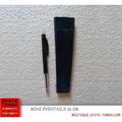 Mini éventail, bois lisse, uni . 16 cm