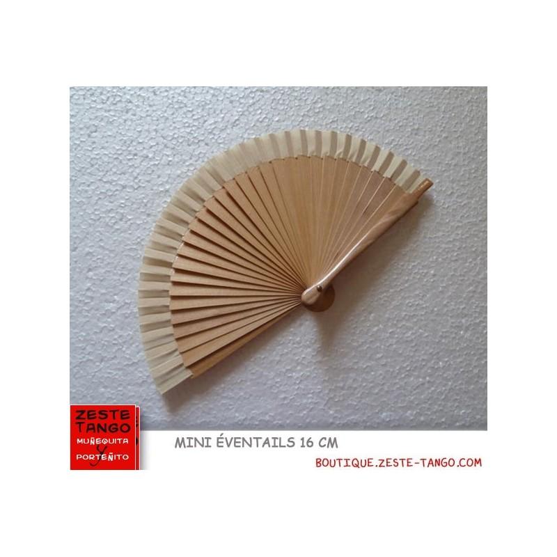 Mini éventail, lisse uni or. 16 cm