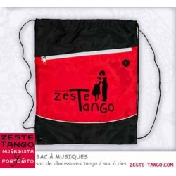 Sac chaussures tango, Sac à dos - Rouge/Noir