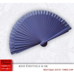 Mini éventail, bois lisse, violet parme. 16 cm