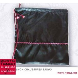 Sac chaussures tango 'Guapo' - Satin duchesse noir