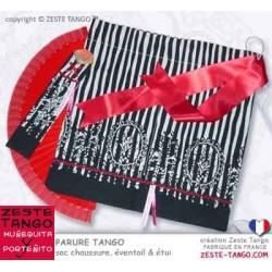 Sac chaussures tango - Parure española Rouge